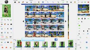 Interface envoi des photos sur facebook