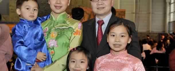 photographe portrait de famille asiatique