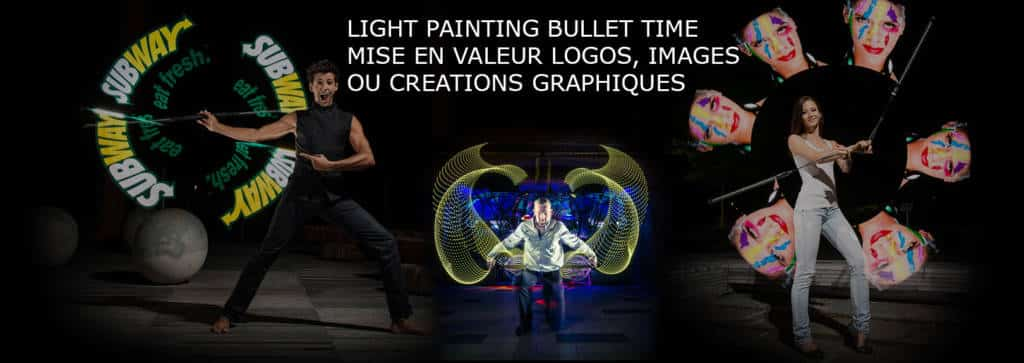 light painting bullet time