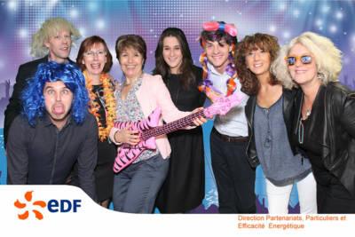 Photobooth fond vert EDF