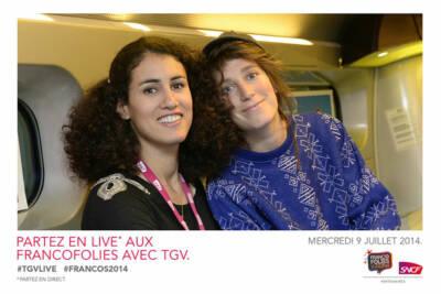 Photobooth fond vert SNCF