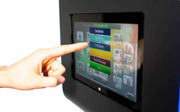 écran de partage tactile en arrière