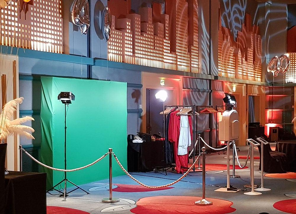 vidéo booth fond vert